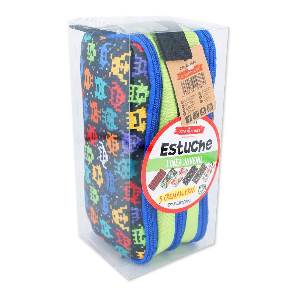 EA4888 - Estuche con 3 cremalleras diseño Graffiti, 3 ...