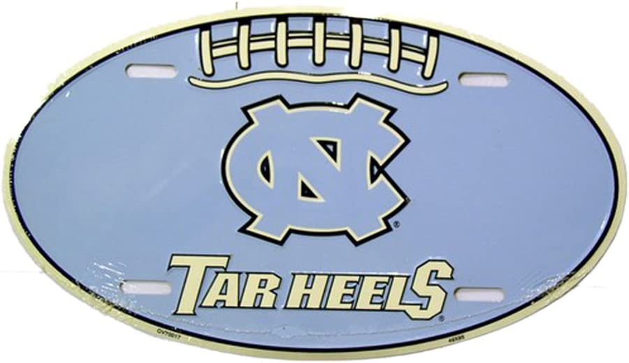 "Carolina Tar Heels Licensed Metal Novelty License Plate 11.75/"" x 6/"""