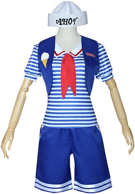 YFJL Stranger Things 3 Cosplay Costume Scoops Ahoy Robin Dress ...