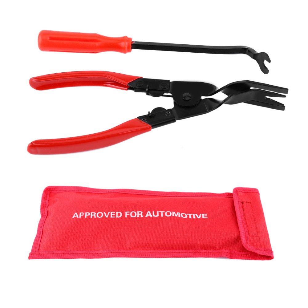 Juego de herramientas de 2 unidades de FireAngels de alicate y extractor de tapicería para el panel de la puerta del coche: Amazon.es: Coche y moto