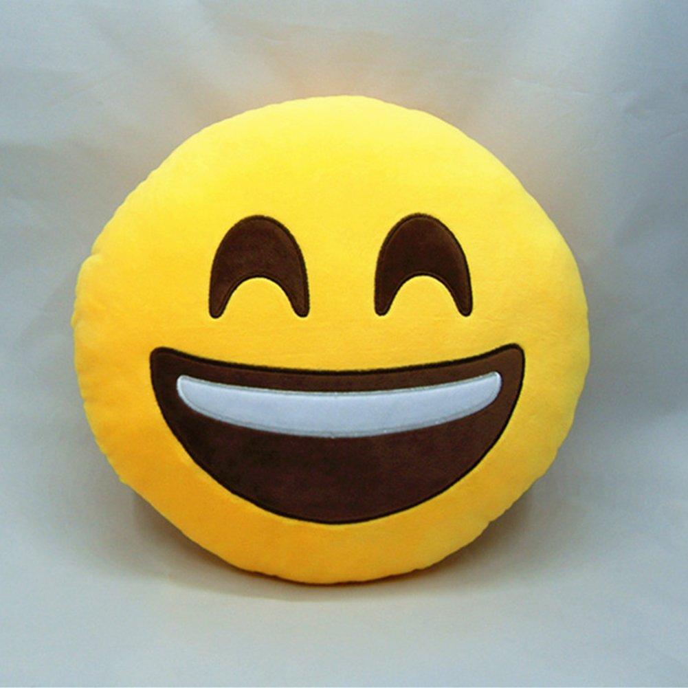 Grin LI/&HI Emoji /émotic/ônes oreiller Rire coussin pr/ésident Oreiller Coussin de si/ège rond