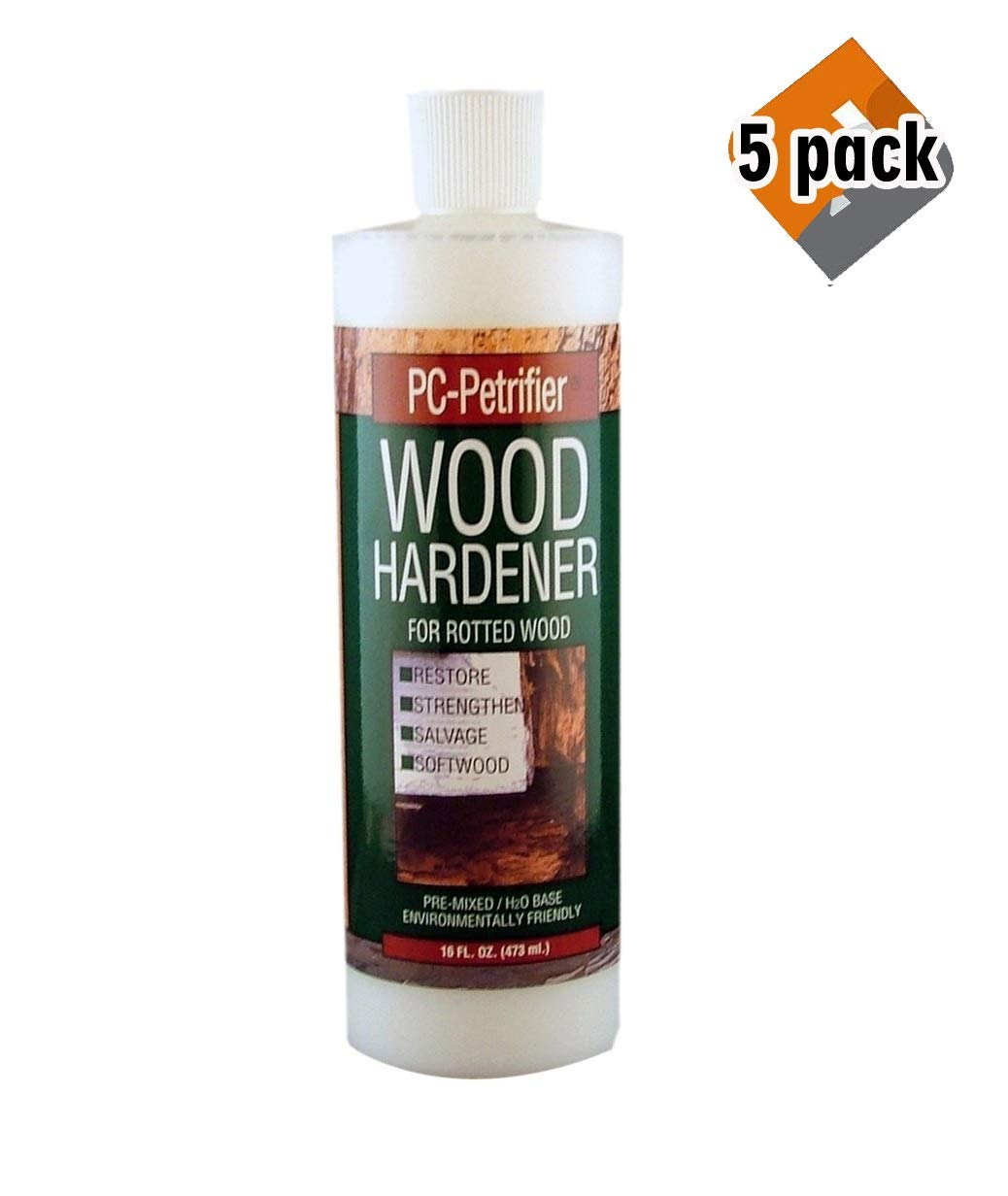 PC Products PC-Petrifier Water-Based Wood Hardener, 16oz, Milky White 164440, 5 Pack