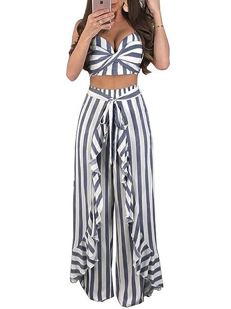 Amazon.com: trinhguo para mujer dos piezas trajes del pecho ...