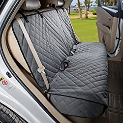 VIEWPETS Bench Car Seat Cover Protector - Waterproof, Heavy-duty Nonslip Pet Car Seat Cover Dogs Universal Size Fits Cars, Trucks & SUVs(GREY)