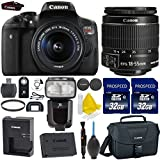 Canon EOS Rebel T6i 24.2MP WiFi Enabled Digital SLR Camera + Canon EF-S 18-55mm IS STM + 2pc High Speed 32GB Memory Cards + UV Filter + Canon Case + Cleaning Kit + 9pc Accessory Kit For Sale