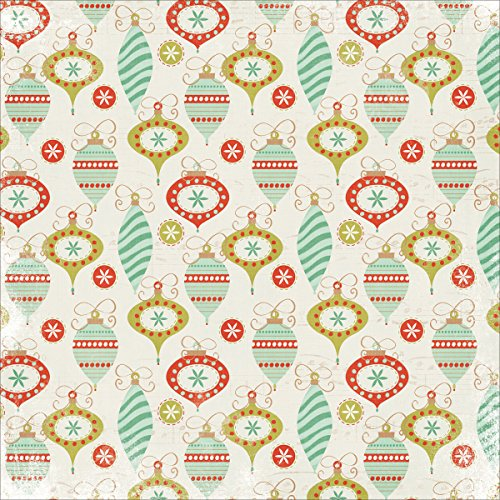 "UPC 883416163619, Mistletoe Spot Varnish Cardstock 12""X12""-Decorations"