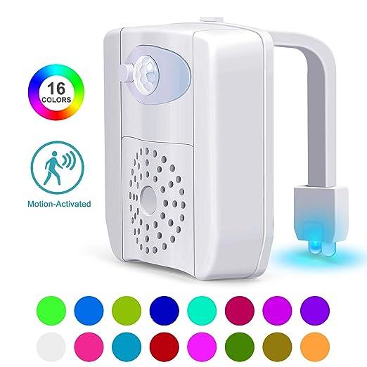 Amazon.com: Luz nocturna para inodoro con sensor de ...