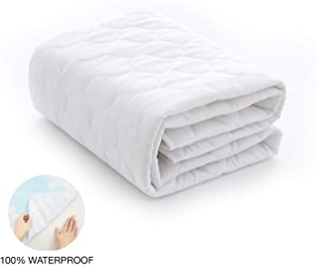 Exq Home Waterproof Crib Mattress Pad
