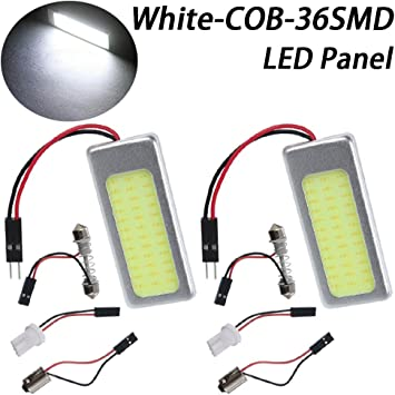 10pcs 42mm COB LED Car Interior License Lights Auto Part Energy Saving Lamp