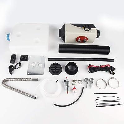 12V 8000W LCD Schalter Vehículo Calefactor de Aire Diesel para automóviles Camiones Yates Barcos Casa Autobus Calentador de estacionamiento de Aire -Blanco y Negro: Juguetes y juegos