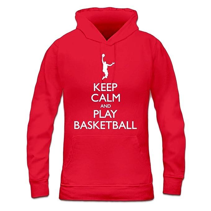 Shirtcity Sudadera con Capucha de Mujer Keep Calm and Play Basketball by: Amazon.es: Ropa y accesorios