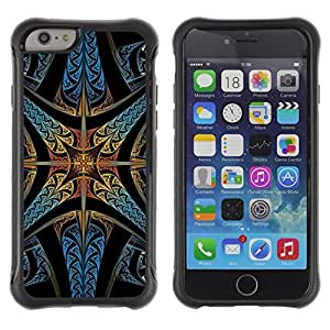 Paccase / Suave TPU GEL Caso Carcasa de Protección Funda para - Stained Glass Church Star Christian God - Apple Iphone 6 PLUS 5.5