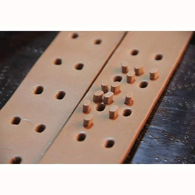Herramienta de Plantilla de Plantilla de Plantilla de Extremo de Cabeza de Hebilla de cintur/ón de Cuero acr/ílico de 5 Piezas