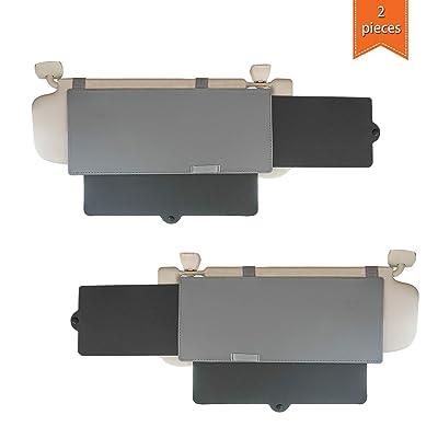 WANPOOL Car Visor Sunshade, Car Visor Anti-Glare Sunshade Extender for Front Seat Driver and Passenger - 2 Pieces (Gray): Automotive