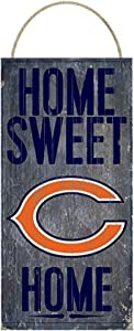 NFL Chicago Bears Home Sweet Home Distressed Vintage Sign for NFL Football Sports Fan Wall Decor CHOOSE YOUR TEAM!!! (Bears)