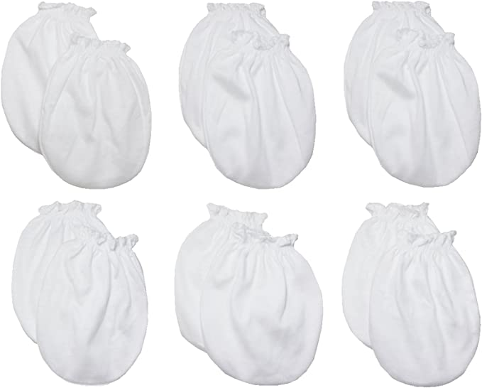 LUCKY LUCKY Baby Boys Girls Gloves,No Scratch Mittens 100/% Cotton 6 Pair.