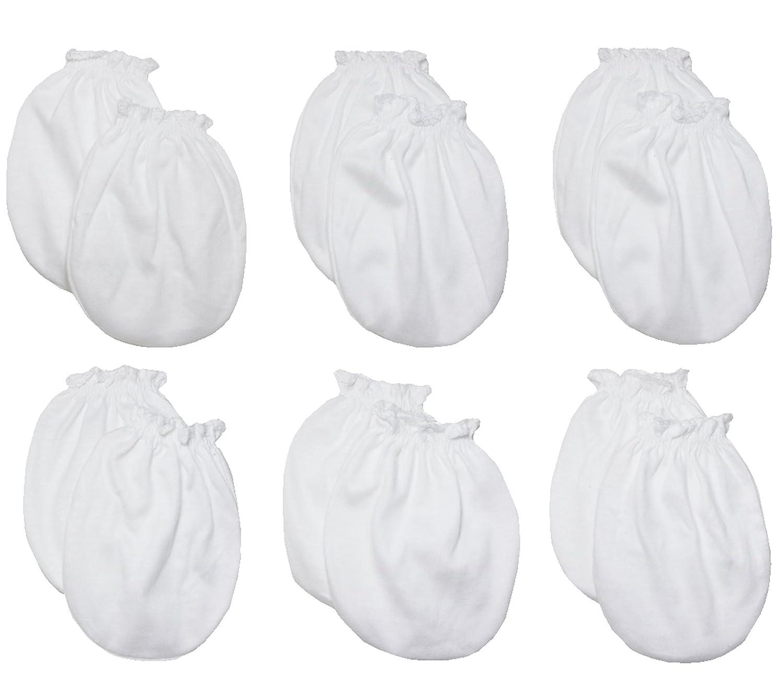 reci/én nacidos hasta 3 meses 100/% algod/ón 6 pares de mitones anti-ara/ñazos para beb/és