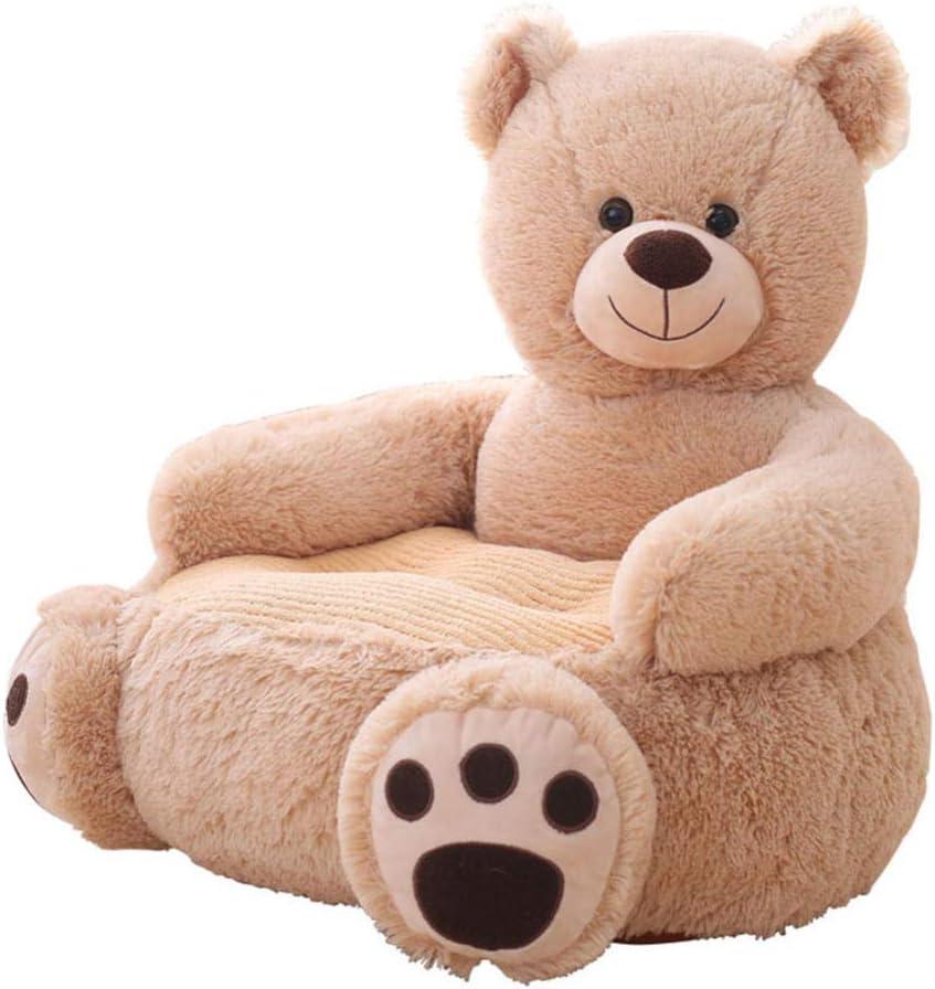 Cxry-Kit Teddy Bear Panda Sofá de Dibujos Animados Sofá para niños de jardín de Infantes Tatami Asiento Perezoso Individual, Adecuado para la habitación de los niños.-marrón_Los 50 * 50 * 45cm