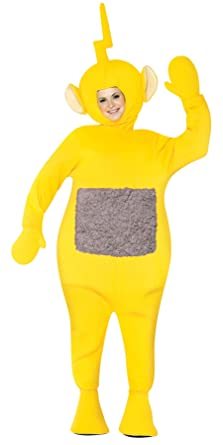 uhc womens teletubbies lala theme party fancy dress adult halloween costume