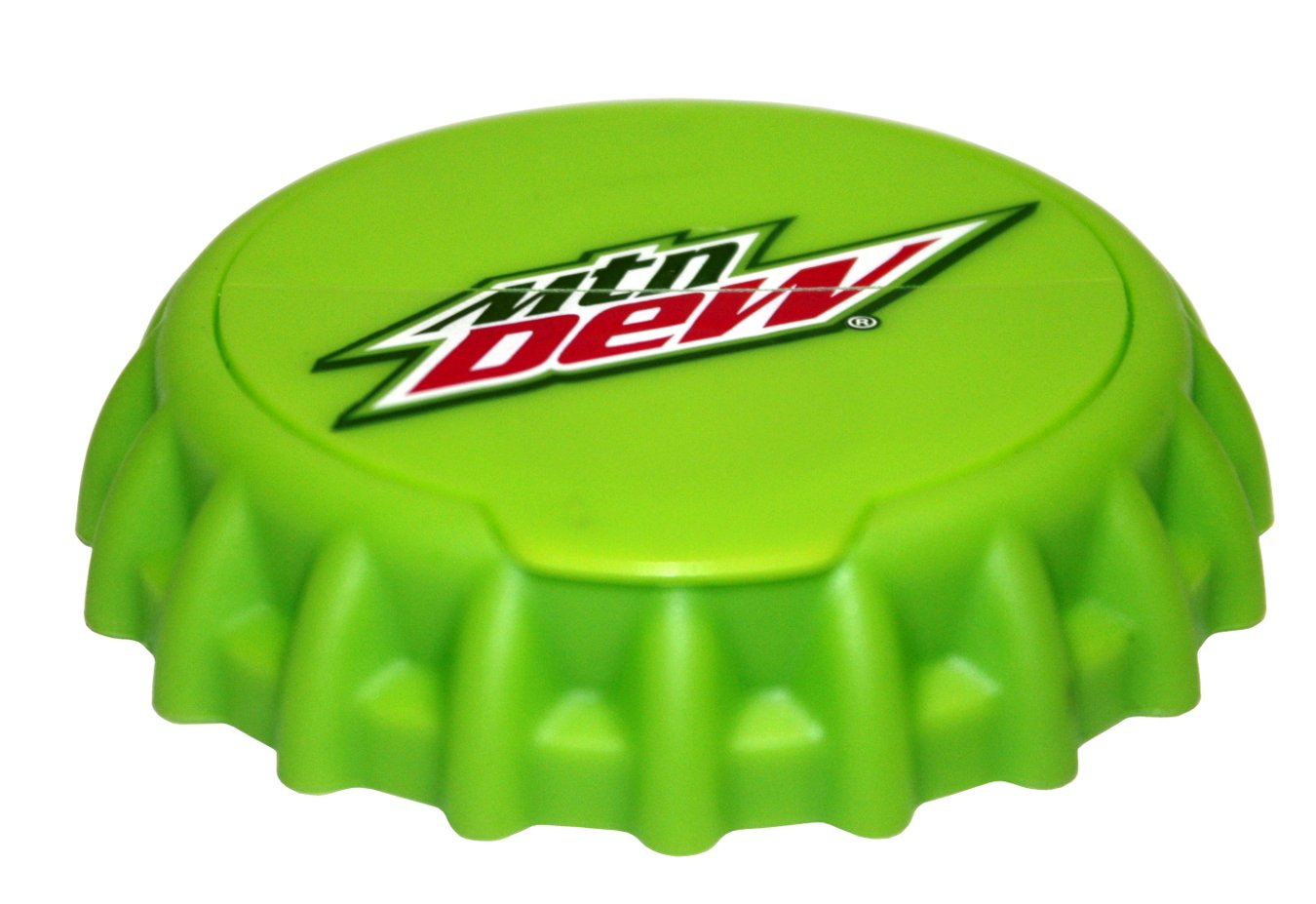 Jokari Mtn Dew Modern Logo Snap and Sip Can Cap, Green 18311P1