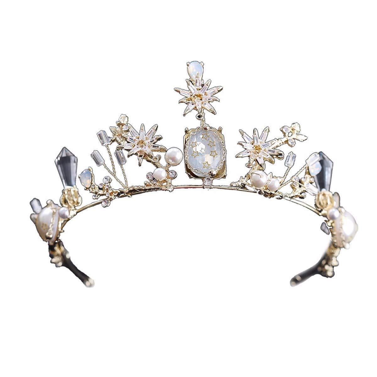Wedding Crown, Beautiful headdress/Crown Headwear Bride'S Sage Fairy Meida Crown Wedding Queen Princess Crown Wedding Dress Accessories