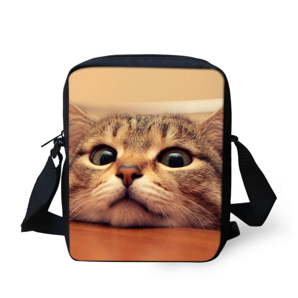ThiKin Cute Mini Shoulder Handbags Cat Dog Printed Cross-body Bag