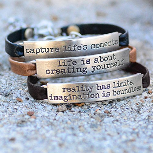 Sweet Romance Trust in the Lord Prov 3:5 Inspirational Leather Band Bible Message Bracelet (Black Leather) by Sweet Romance (Image #5)
