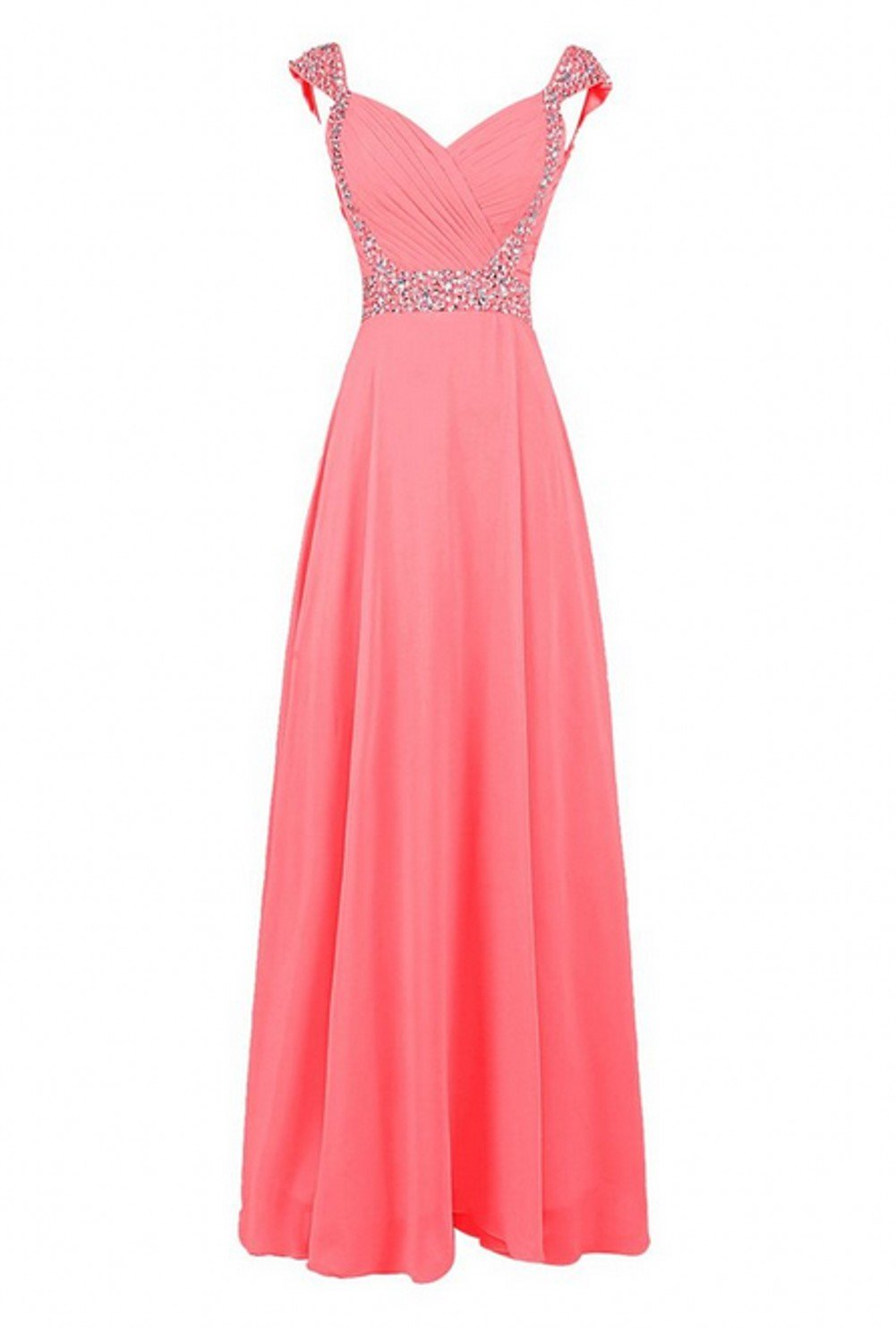 Love Dress Women Long Bridesmaid Dress Prom Party Gown Coral Us 26w