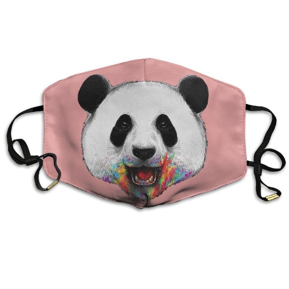 Amazon.com: Adulto Colorido Panda sonrisa Graffiti boca cara ...