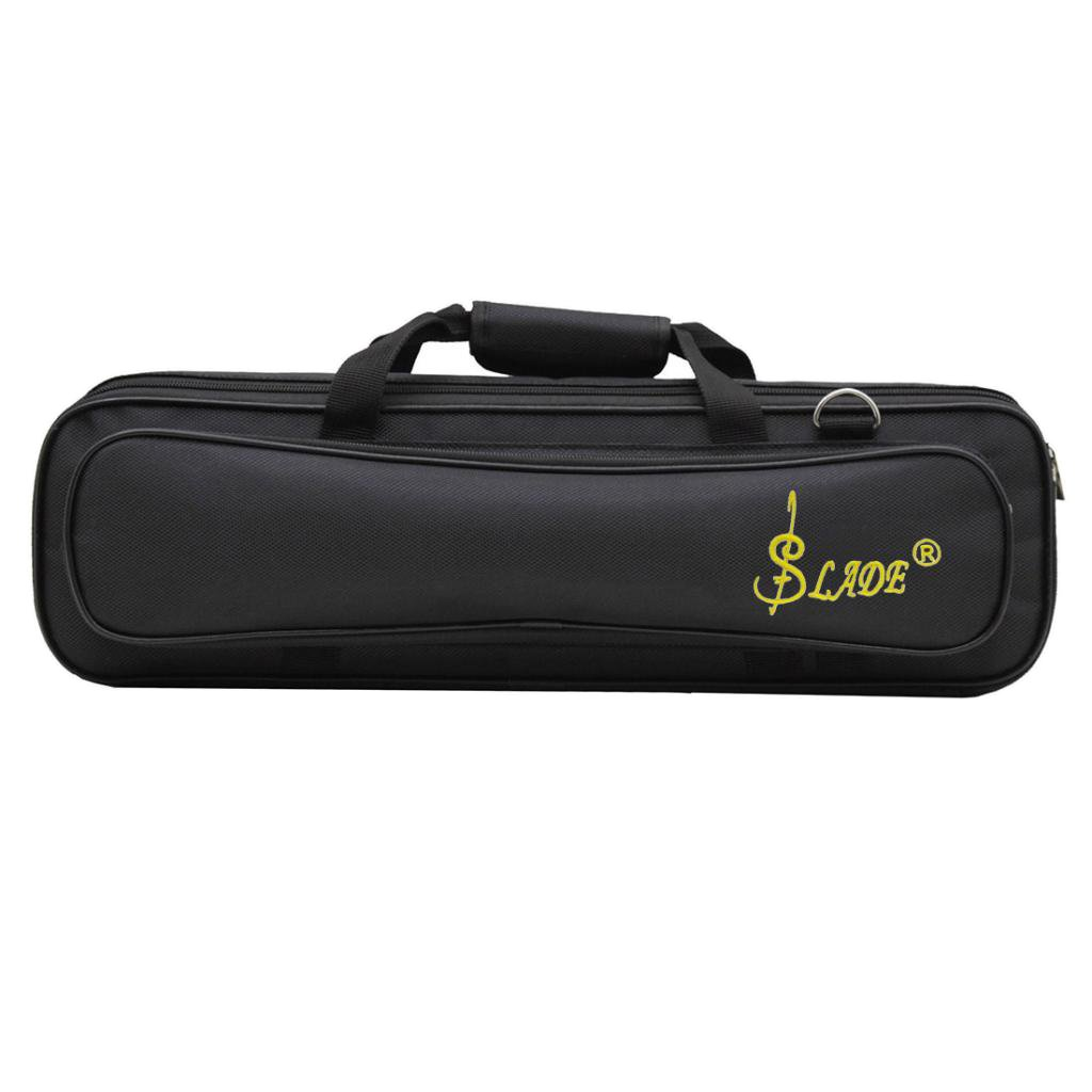 Fenteer FLUTE Case Cover Carrying BAG with Shoulder STRAP for Wind Woodwind Protect Black