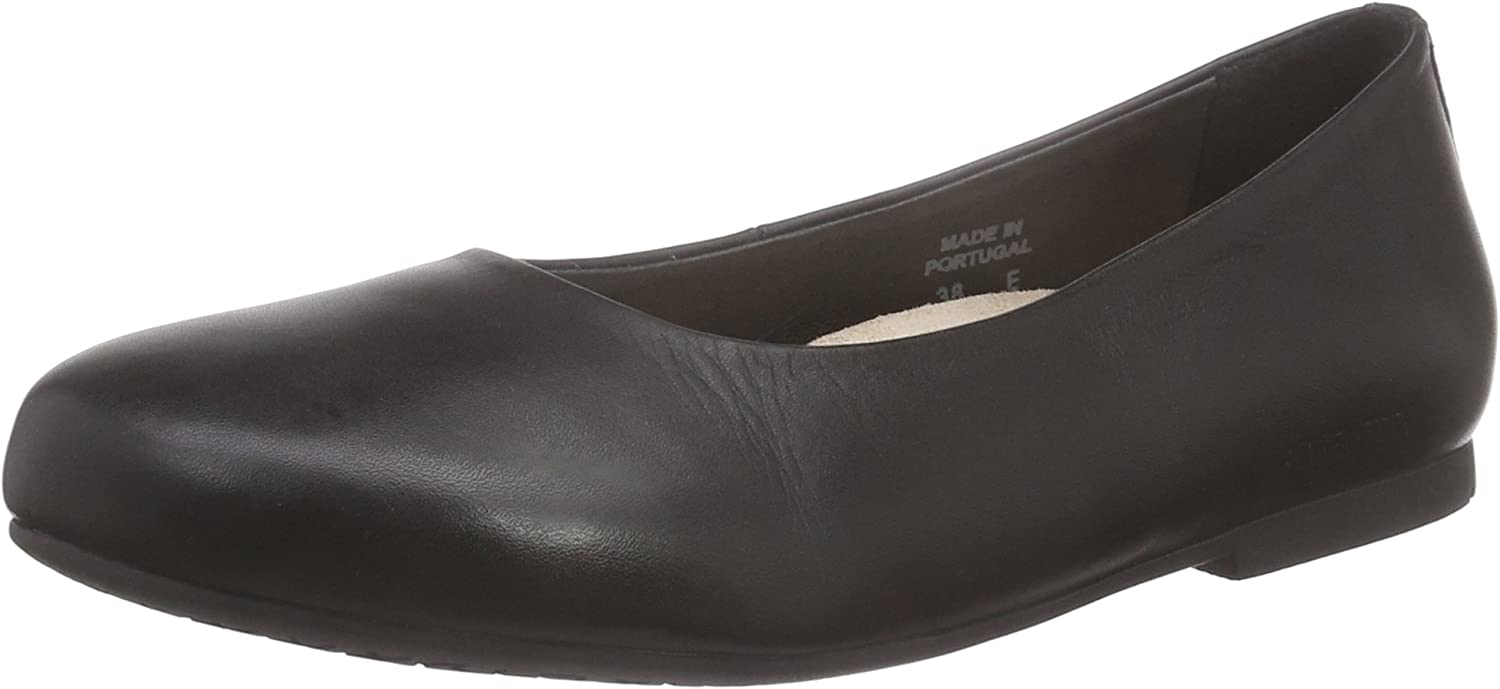Birkenstock Womens Keppel in Black from Leather Shoes 40.0