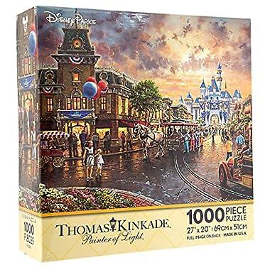 Disney Parks Disneyland 60th Anniversary Diamond Celebration Thomas Kinkade 1000 Piece Jigsaw Puzzle