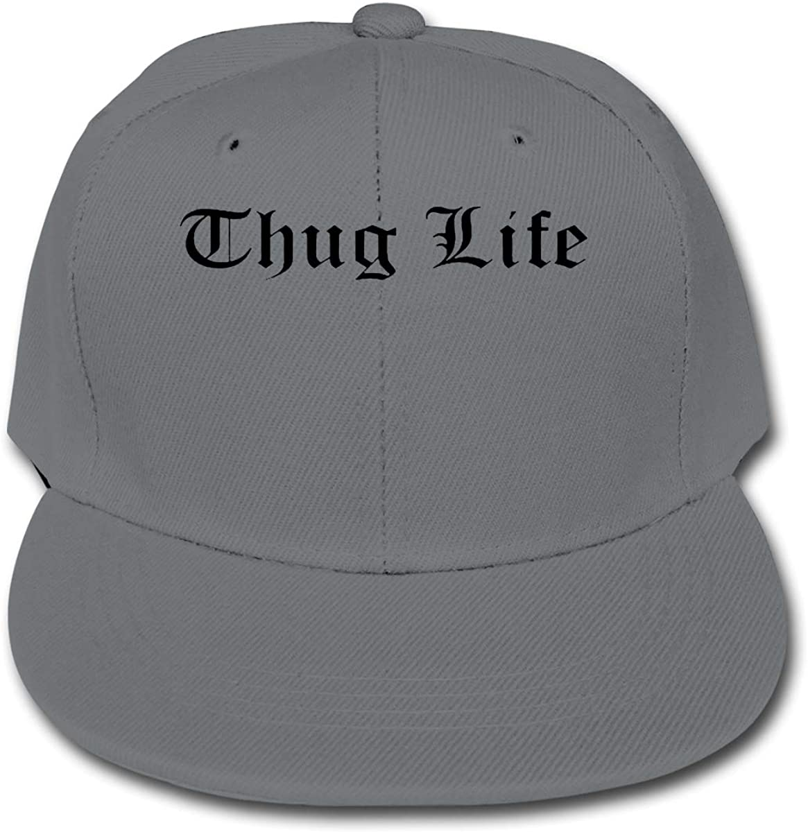 Manlee Thug Life Unisex Kids Plain Cotton Adjustable Low Profile Baseball Cap Hat