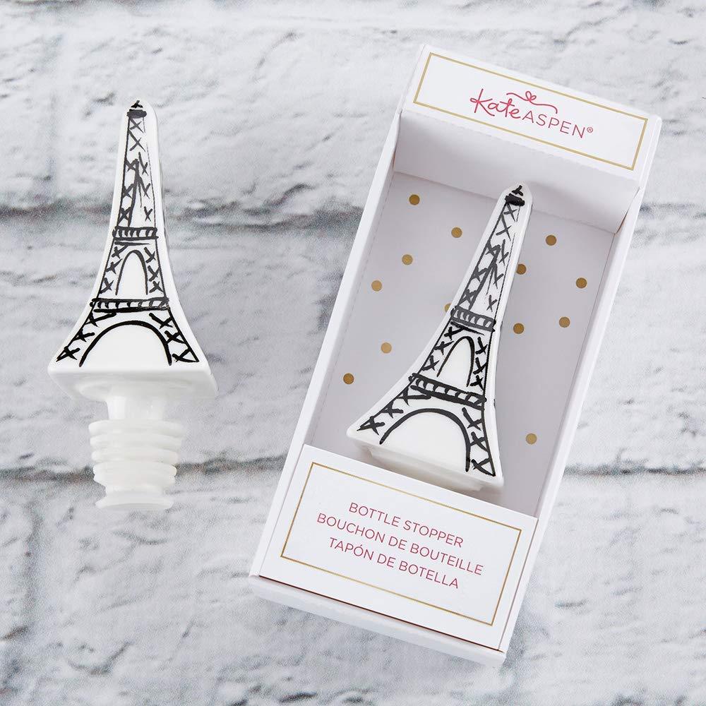 Ceramic Bottle Stopper, Kate Aspen Eiffel Tower Wine Preserver, Guest Gifts, Party Souvenirs, Engagement Party Favor or Decor for Bridal Showers, Bachelorette Parties, Birthday Parties (96)
