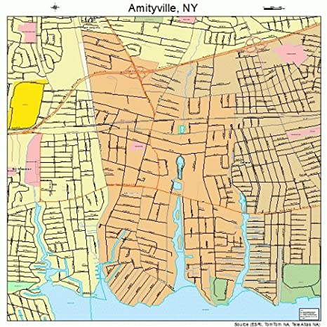 Amityville New York Map.Amazon Com Large Street Road Map Of Amityville New York Ny