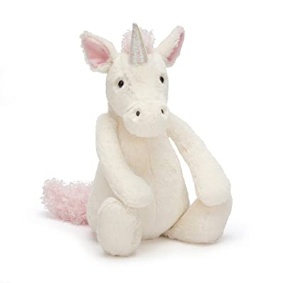 Jellycat Bashful Unicorn Stuffed Animal, Medium, 12 inches: Toys & Games
