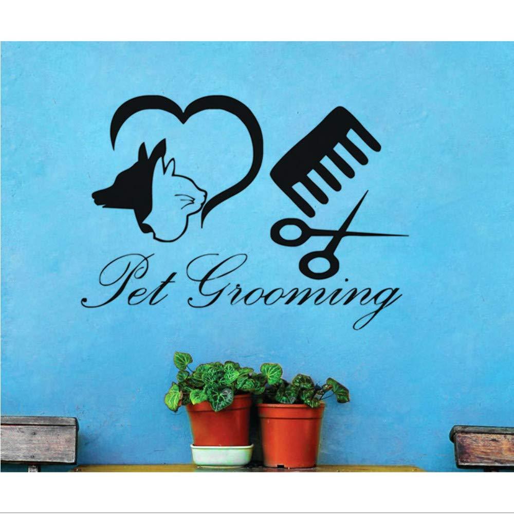 jecswolz Perro Etiqueta De La Pared Pet Grooming Salon Shop Vinilo ...