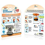 SinkShroom The Revolutionary Sink Drain Protector Hair Catcher/Strainer/Snare, Gray