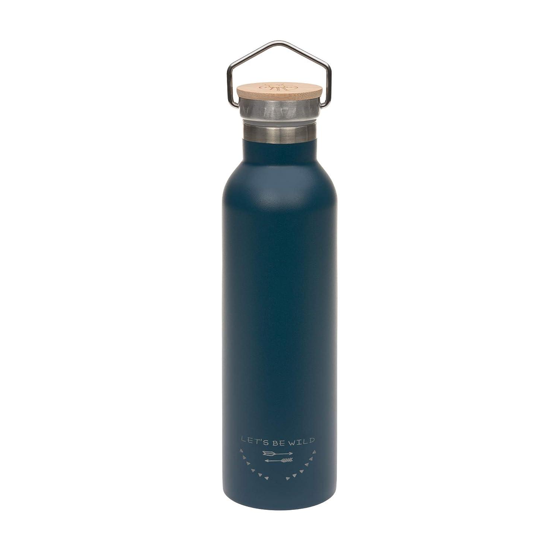 L/ÄSSIG isolierte Edelstahlflasche BPA-frei Doppelwandig Adventure Outdoor 700 ml blue