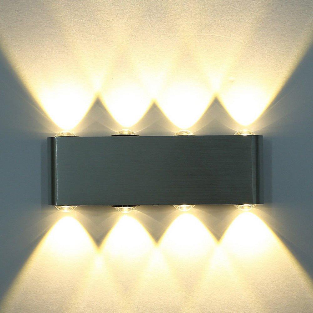 8W LED Moderne Wandlampe 60mm×190mm Warmweiß Spiegelleuchte Badleuchte Silber Aluminium Für Badezimmer Schranklampe Aufbauleuchte Wandleuchte