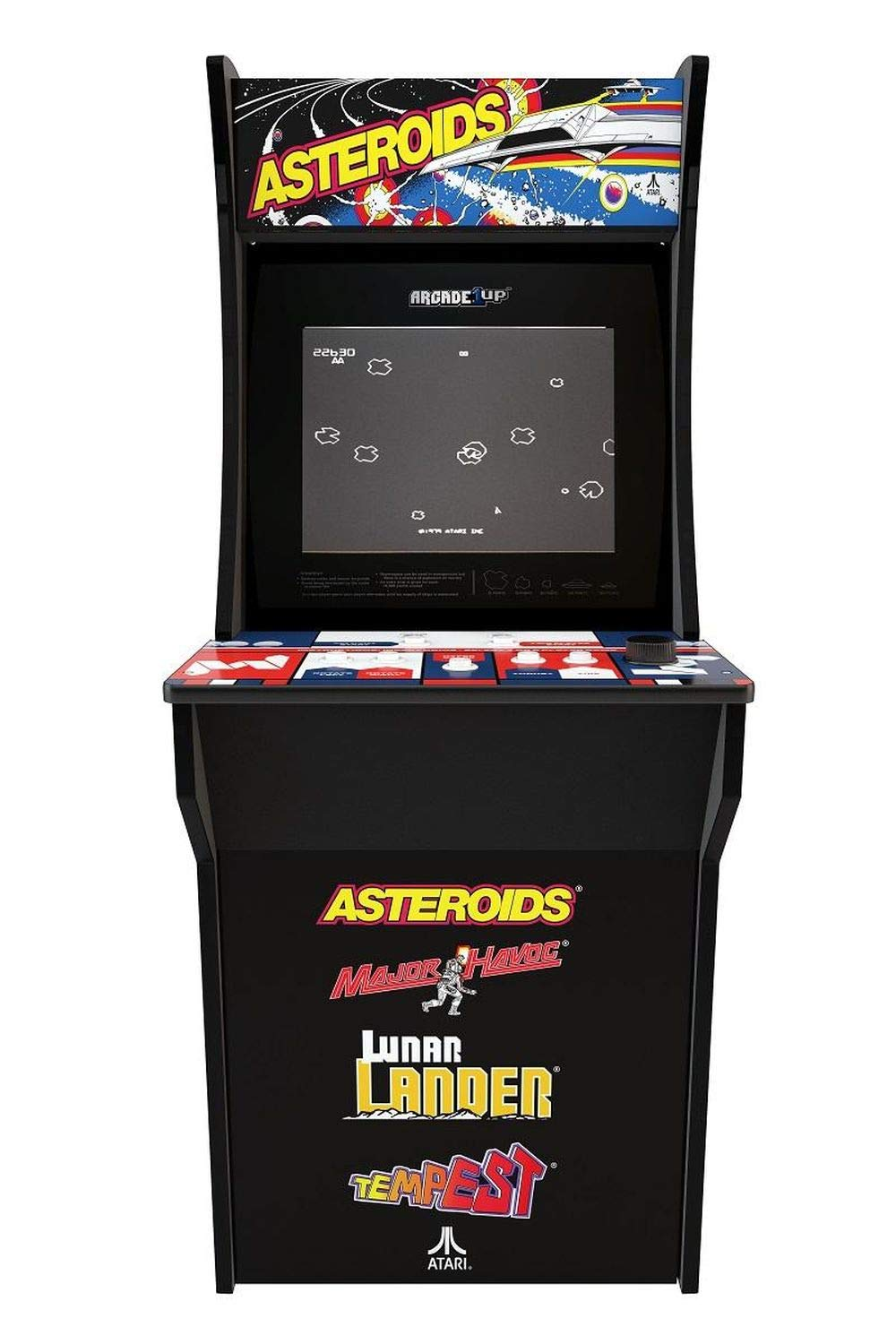 Arcade 1Up – Asteroids Deluxe Classic Arcade Game Cabinet for Kids and Adults – 3/4 Scale – Coinless Operation – 4 Games in 1 (Asteroids, Major Havoc, Lunar Lander and Tempest)