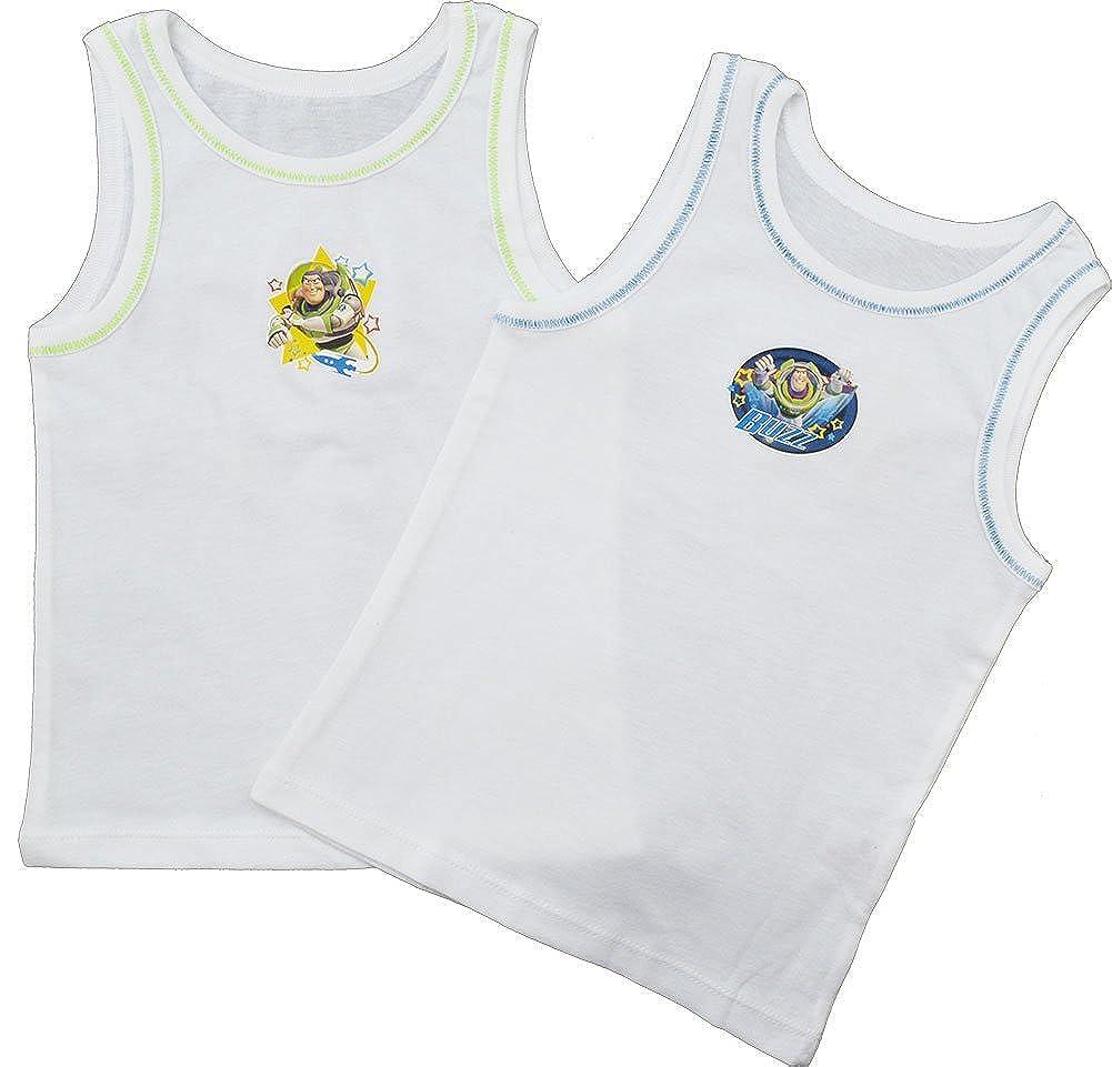 (2 Pack) Boys Disney Toy Story 100% Cotton Vests