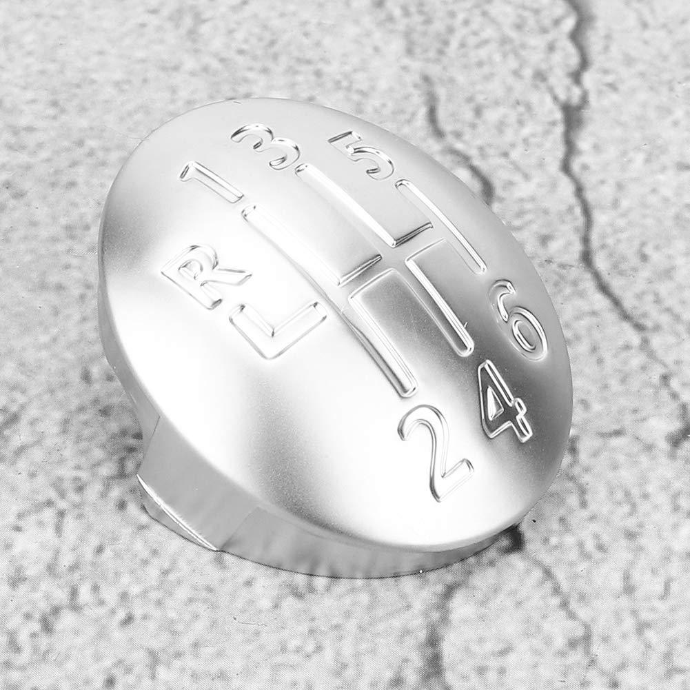 manual de 6 velocidades Cubierta de la tapa de la perilla del cambio de marchas Ajuste para CLIO SCENIC MEGANE II Plata Tapa de la perilla del cambio de marchas