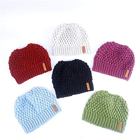 Dig dog bone Women Knit Beanie - Winter Solid Ski Hats Real Autumn and Winter  Knit 706710fcea6