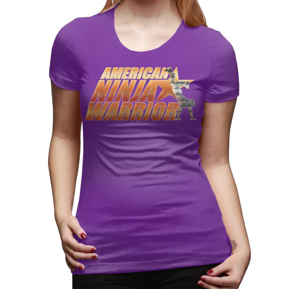 American Ninja Warrior - Camiseta de algodón de las mujeres ...