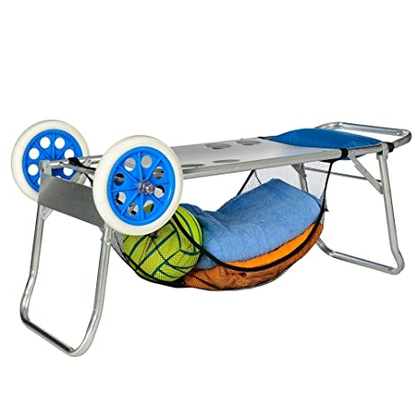 Carro Portasillas playa de Aluminio 52 X 37 X 105 Cm: Amazon ...