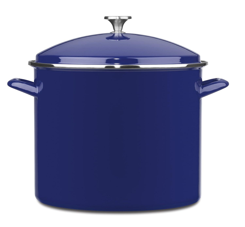 10-Quart Cuisinart EOS106-28R Chefs Classic Enamel Stockpot with ...