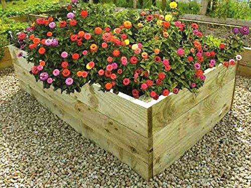Blumenhochbeet aus Holz, 53 cm hoch (1,22m x 1,22m)