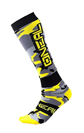 Oneal Mujer Hunter Pro MX calcetines, gris/negro/amarillo, talla única