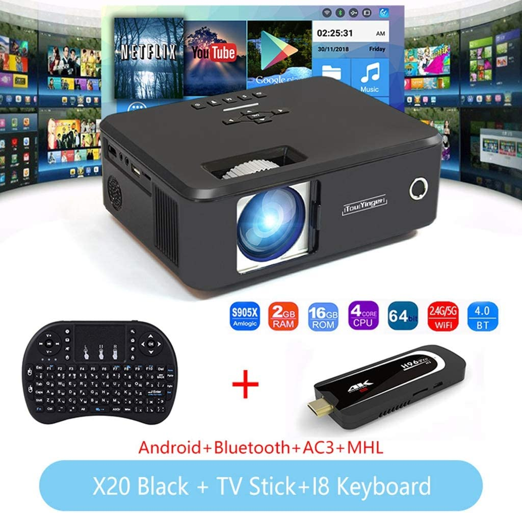 WHLDCD Proyector Mini proyector LED Full HD 1080P Video Beamer ...